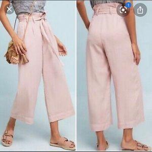 Anthropologie Blyth Pink tied pants